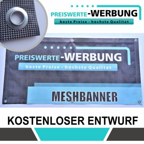 Meshbanner 250cm x 90cm Druck /& Entwurf inkl höchste Qualität!!