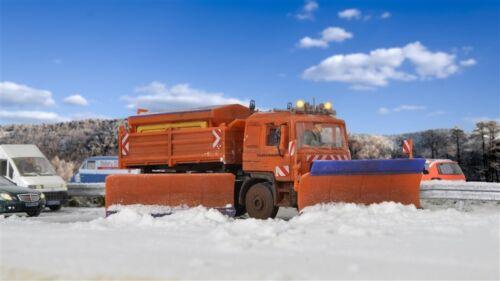 Kibri 15219 h0 camiones MAN autobahnräumfahrzeug con seitenpflug
