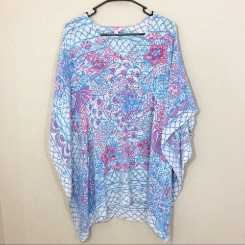 Lilly Pulitzer Lindamarie Caftan Pinchers Picnic S
