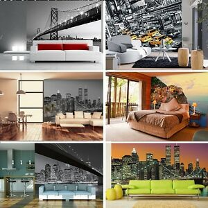 Image Is Loading Wall Mural Wallpaper Cityscape GIANT WALL ART New