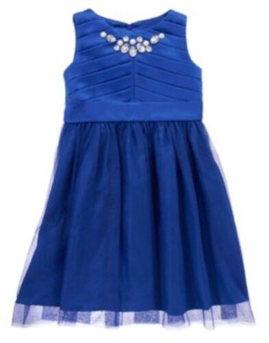 GYMBOREE ROYAL HOLIDAY GEM SATEEN  TULLE DRESSY DRESS 3 4 5 6 7 NWT