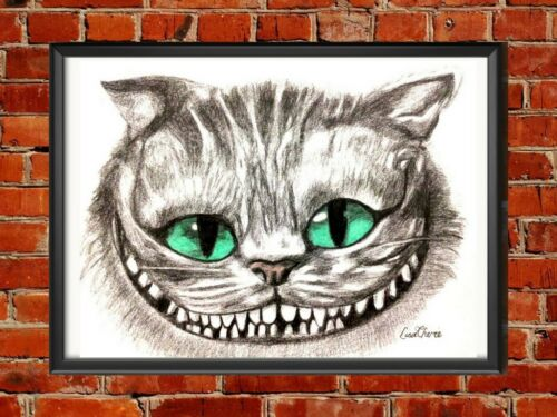 Alice in Wonderland art,character art prints Mad Hatter and Cheshire Cat Prints
