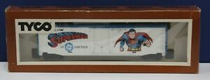 Vintage-Tyco-368A-Brown-Box-Superman-DC-Comics-Boxcar-RTR-LNIB-1977-USA-Made