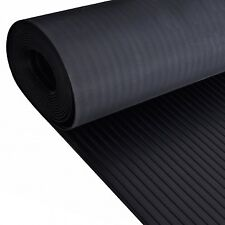 Wide Broad Ribbed Rubber Flooring Matting for Garage, Van Car Roll Mat
