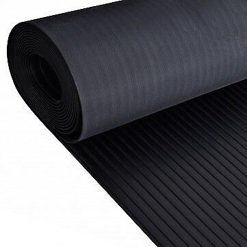 Wide Broad Ribbed Rubber Flooring Matting for Garage Van Car Roll Mat