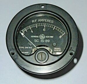 BC191-Amperemetre-HF-IS89-bolometre-0-8A-US-General-Electric-WWII-Xx