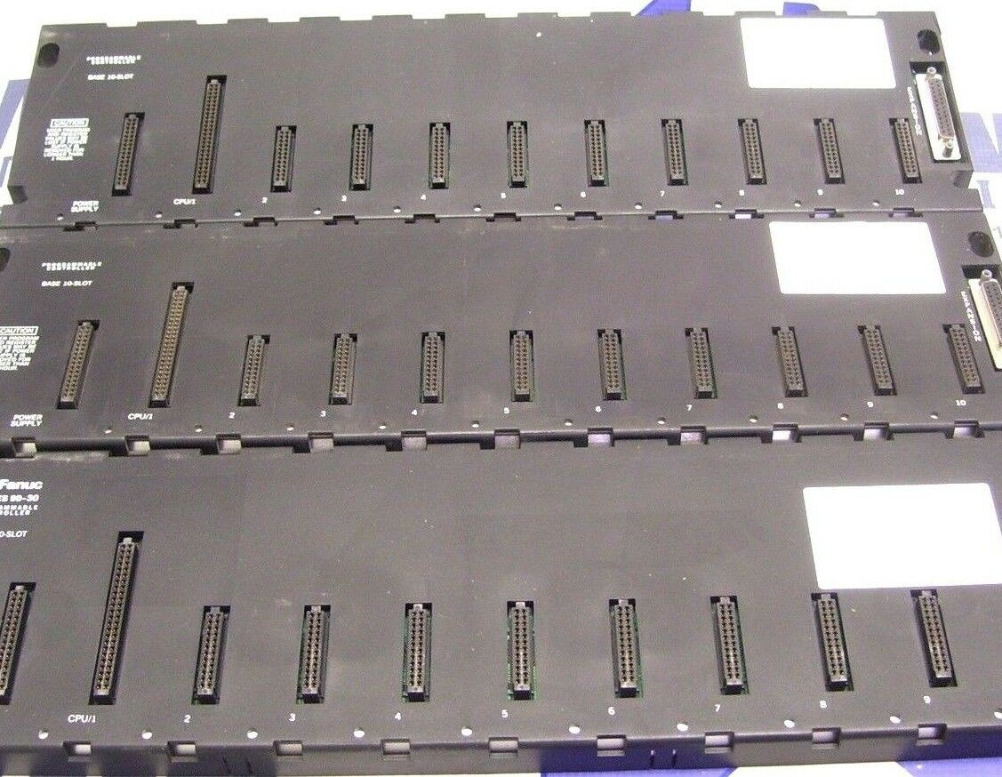 LOT OF 3 GE FANUC BASEPLATE 10 SLOT IC693CHS391C IC693CHS391D 60 Day Warranty