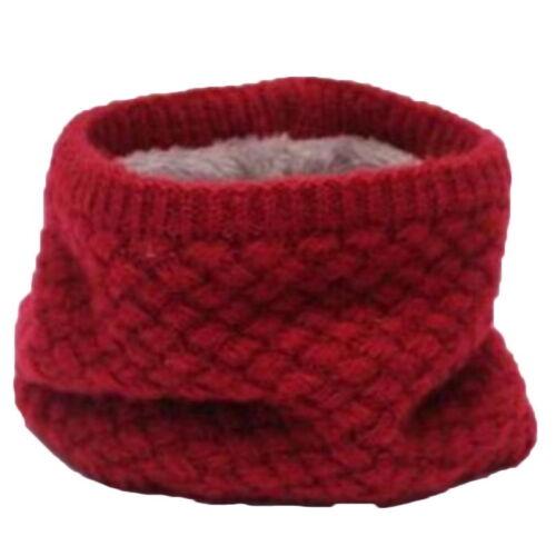 US Kids Girls Boys Winter Scarf Fleece Lined Warm Toddler Scarf Neck Loop Warmer