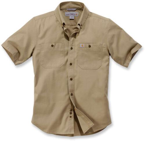 Carhartt Herren Shirt Lw Rigby Solid S//S Shirt Dark Khaki