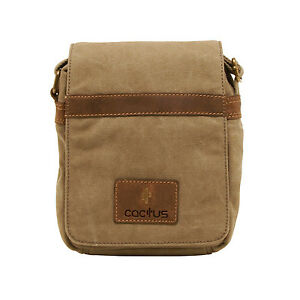1cefbf292 Image is loading Cactus-Small-Cross-Body-Messenger-Bag-in-Khaki-
