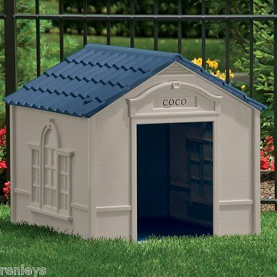 Deluxe Extra Large Pet Dog Cat House Home Outdoor Cage Durable Resin All-Weather