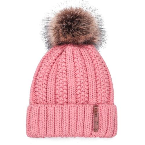 Warm Knit Beanie Hats Women Girls Cute Pompom Travel Outdoor Korean Casual Caps