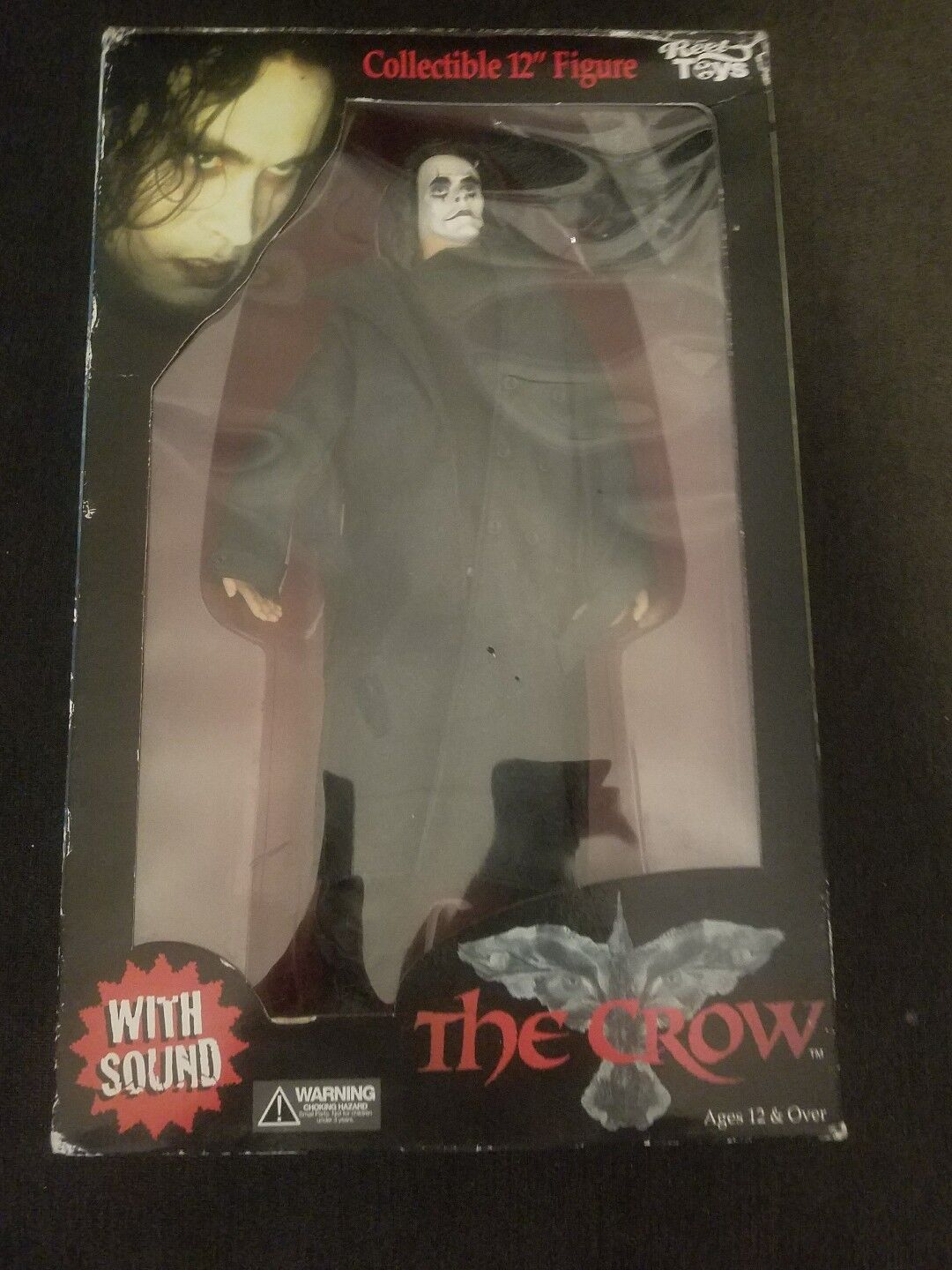 The Crow w  Sound Sound Sound Collectible 12  Figure REEL TOYS 2002 NIB Horror Brandon Lee fcf524