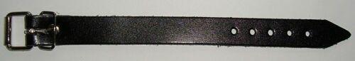 10 Stück Riemen 1,5 x 18,0 cm x 2,0 mm schwarz aus beschichteten Spaltleder wow