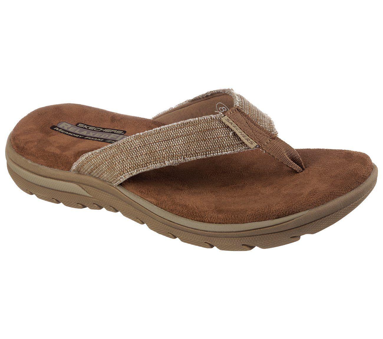 Men's Skechers Relaxed Fit: Supreme - Bosnia Sandals, 64152 /TAN Multiple Sizes