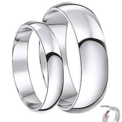 His And Her Wedding Bands.9ct White Gold Rings His Hers Court Shaped Wedding Bands Sets 3 5mm 4 6mm Ebay