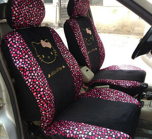 10pc Hello Kitty Pink Red Hearts Universal Interior Car
