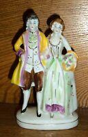 Porcelain Figurine Of Man & Woman - Occupied Japan