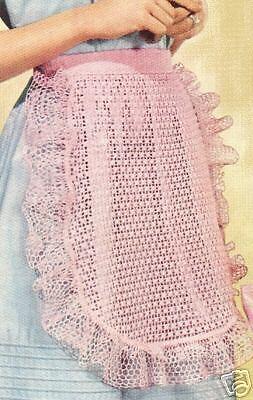 Vintage Crochet Mom Child Doll Tea APRON Pattern 3 Size