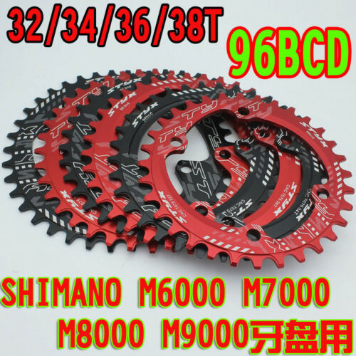 96BCD 32//34//36T Aluminum Chainring MTB Road Bike Chainwheel for M7000 //XT M8000