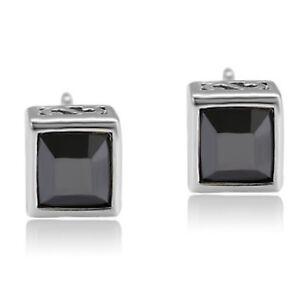 Details About 9ct Gold Filled Square Black Swarovski Elements Crystal Stud Earrings Uk 353