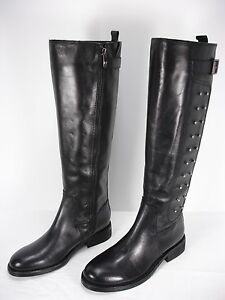 ffb99c24272 NEW VINCE CAMUTO FIDO LEATHER STUDS SIDE ZIP KNEE HIGH BOOTS WOMEN S ...