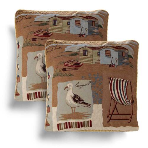 """Lot de 2 Housses de Coussin Vintage Tapisserie Couverture Paire 18/"""" 45 cm Coussins"""