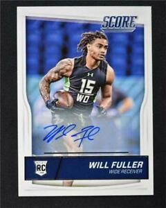 2016-Score-Rookie-Autographs-366-Will-Fuller-Auto-NM-MT