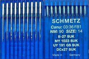 ORGAN DCX27 B27 MY1023 SY6120 90//14 INDUSTRIAL OVERLOCK SEWING MACHINE NEEDLES