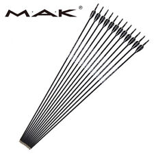 6//12//24pcs 30 inches Spine 350//500 Carbon Arrow with Black and White Color for