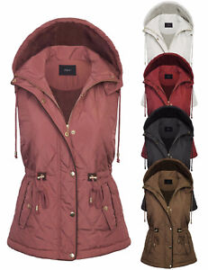 8412be9e286 Image is loading KOGMO-Womens-Fur-Lined-Lightweight-Zip-Up-Quilted-
