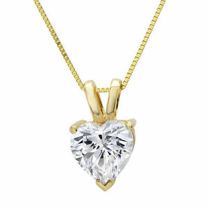 2-0-ct-Heart-Cut-Solid-14K-Yellow-Gold-Solitaire-Pendant-Necklace-16-034-Chain