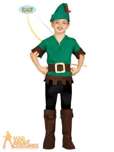 Child Outlaw Costume Boys Robin Hood Peter Pan World Book Week Fancy Dress