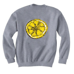 0ad5c477950 Details about STONE ROSES LEMON JUMPER GREY SWEATSHIRT - ALL SIZES