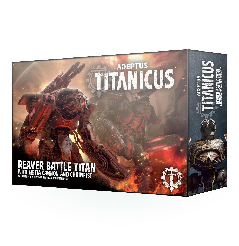 Warhammer 40k adeptus titanicus reaver titan w   melta kanonen und chainfist nib