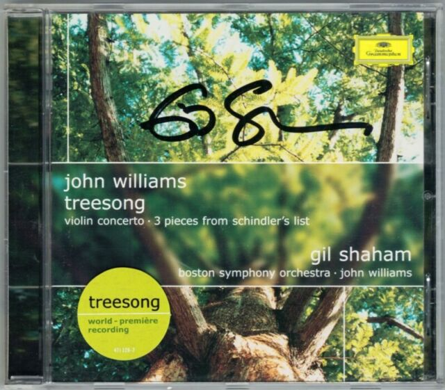 Gil SHAHAM Signiert JOHN WILLIAMS Violin Concerto Tree Song Schindler's List CD