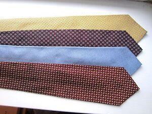 4 (FOUR) POLO Handmade 100% Silk Neck Ties Purple Lining EUC