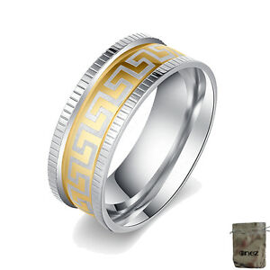 19mm Original Enez Ring Trauring Ehering Edelstahlring Gr: 9 Ge BüGeln Nicht B: 8mm R2605