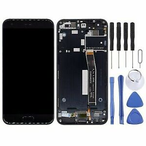For Asus Zenfone 4 Black LCD Display Touch Screen Digitizer Replacement + Frame