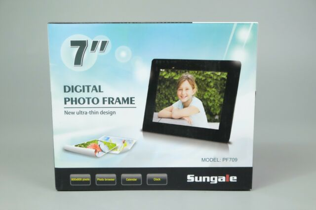 Sungale Pf709 7 Inch Ultra Slim Digital Photo Frame Black Ink Ebay