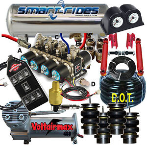 Details about GMC G Body EZ Air Ride Accuair vs SmartRide 4 Way FBSS Air  Ride 3/8 System