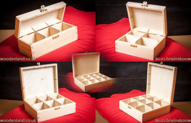 WOODEN STORAGE BOX / UNPAINTED NEW WOODEN TEA BOX  / ART CRAFT DECOUPAGE