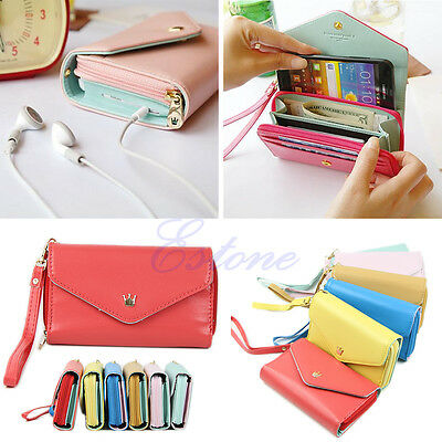 Wallet Envelope Purse Multifunctional Phone Case for iPhone 4s 5 Galaxy S2 S3