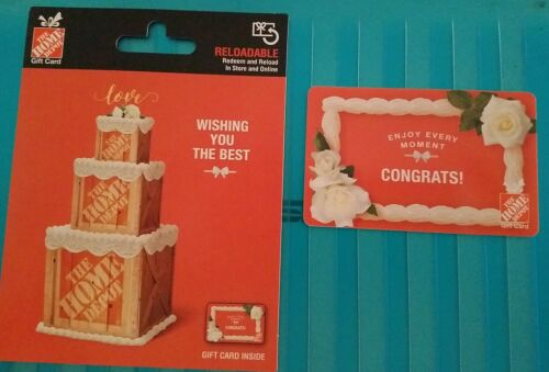 2020 Home Depot Wishing You the Best Collectible Wedding Gift Card Mint