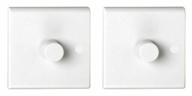 White Deta S1261 LED Dimmer Switch 1 Gang 2 Way 5-100 Watt