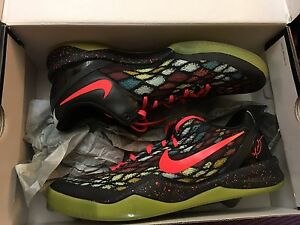 finest selection 08575 8d0ae Image is loading Nike-Kobe-8-Christmas-xmas-VIII-size-10-
