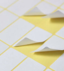Details about 280pcs 13x38mm Small White Blank Sticky Labels Self Adhesive  Price Stickers Tags