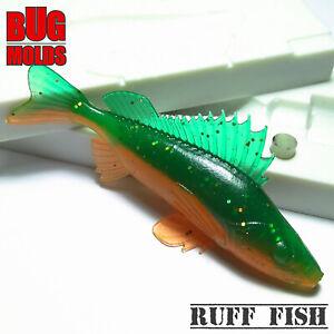 Leurre-Appat-Mold-Fishing-Lure-Molds-fischkoderform-Molde-de-Pesca-Ruff-Poisson
