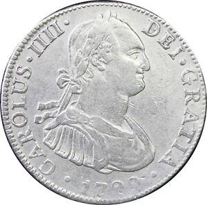 Mexico-4-Reales-Mo-1799-F-M-Carolus-IIII-KM-100