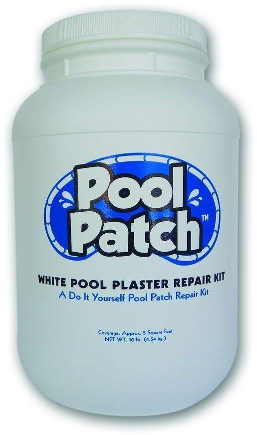 Parche de piscina piscina blancoo de 10 lb. Kit De Reparación De Yeso fácil de mezclar y fácil de apliCoche nuevas